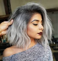 Chopped Gray Lob With Root Fade