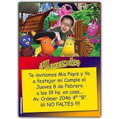 Birthday invitation card.  Tarjeta invitación para cumpleaños.