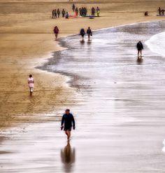 Paseo en la playa.