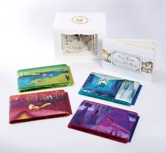 beautiful chocolate packaging, with the chocolate wrappings making up the background of a story.