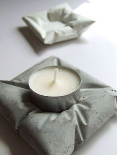Looks like a cool DIY,cement tea light holders | The DIY Board ...