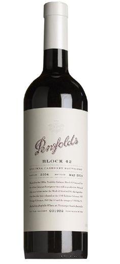 Penfolds - Kalimna Block 42 - Cabernet Sauvignon 2004 / Barossa Valley - South Australia - Australia. Original Edition wine / vinho / vino mxm #vinosmaximum