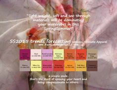 SS2015 trends forecasting for Women, Intimate Apparel - light weight, soft and see-through materials will be dominating your wardrobes in th...
