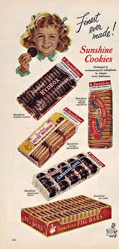 Sunshine Biscuits Ad, 1952 | Flickr - Photo Sharing!