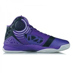 Peak Hurricane III Carl Landry Professional Basketball Shoes - Purple/Black  - Peak   Free