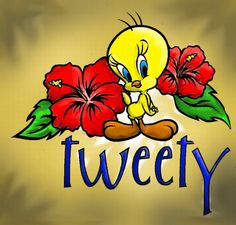 I want a tattoo of this! Baby Disney Characters, Classic Cartoon Characters, Classic Cartoons, Tweety Bird Drawing, Tweety Bird Quotes, Mickey Mouse Images, Looney Tunes Cartoons, Morning Cartoon, Joker Art