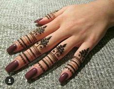 Unique Finger Mehndi Designs That You'll Absolutely Love - henna - Henna Designs Hand Henna Tattoo Designs Simple, Mehndi Designs For Beginners, Henna Designs Easy, Best Mehndi Designs, Palm Mehndi Design, Finger Mehendi Designs, Mehndi Designs For Fingers, Fingers Design, Henna Tattoo Hand
