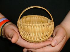 Small handmade buttock basket.