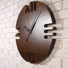 The wall clock Dabo Roman is made of solid Настенные часы Dabo Roman выполнены из массив… Wall clock Dabo Roman made of solid ash wood. The wood is tinted in Olha color, the coating is varnish in several layers. Wall Clock Wooden, Wood Clocks, Wood Wall Art, Clock Art, Diy Clock, Woodworking Clock Ideas, Wooden Projects, Wood Crafts, Wall Clock Design