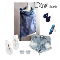 """Denim summer"" by esartfelt ❤ liked on Polyvore featuring One Teaspoon, Christian Dior, jeanshorts, denimshorts and cutoffs"