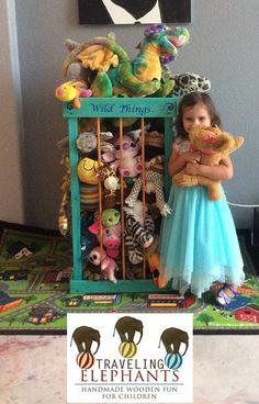 3ft ZOO stuffed animal storage  stuffed by TravelingElephants