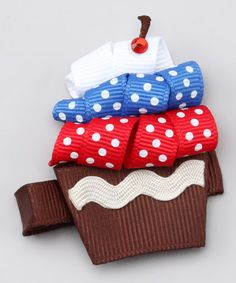 Take a look at this Red, White & Blue Cupcake Clip by Fourth of July Boutique on #zulily today!