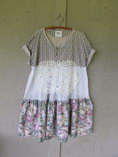 Prairie bohemio vestido reciclado ropa por lillienoradrygoods