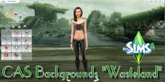 Sims 4 - CAS Backgrounds Wasteland