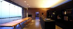 Sleek kitchen and dining area