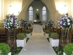 Alta decorado para casamento