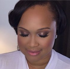 Bridal Make-Up - Soft glam. #bridalmakeup #Makeup #glam #lashes #blackbride #contouring #luxurybrownbeauty - make up by DC Artist Tiyana Peters - I love how feminine and romantic this look was!