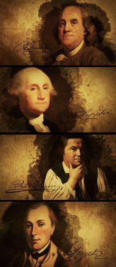 benjamin franklin, george washington, paul revere, lafayette  prominent_founding_fathers_franklin_washington_jefferson.jpg https://www.youtube.com/watch?v=gXNrqb-2cbU
