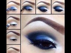 ♥ ♥   Makeup Tutorial  Royal Blue Eye Look ♥ ♥
