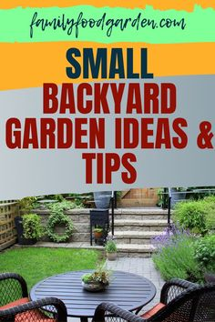 Here are some tips and ideas for planning and designing your small backyard garden. Find it all on this pin. #gardening #gardeningtips #backyardgardening Small Backyard Gardens, Small Space Gardening, Garden Spaces, Container Gardening, Gardening Tips, Square Foot Gardening, Small Trees, Growing Plants, Family Meals