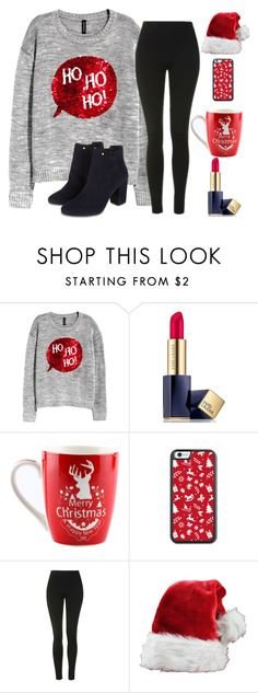 """""""Day 2-Ho Ho Ho"""" by basketball11-123 ❤ liked on Polyvore featuring Estée Lauder, Topshop and Monsoon"""