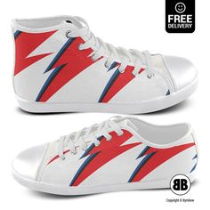 DAVID BOWIE Shoes Funny Sneakers Ziggy Stardust Converse by BYMBOW