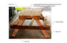kinder-picknicktafel van oude pallets