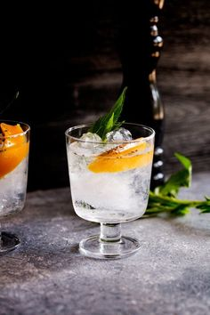 This Mango and Black Pepper Gin and Tonic is a deliciously different way to enjoy the classic G&T. The sweet mango and fiery black pepper sing together and make this a drink to remember. {wine glass writer}