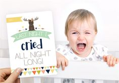 Novelty Baby Boy Moments and Milestones Cards - 16 pack