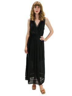Angels by the Sea Black Nahele Long Dress