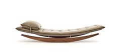 Greg and Roché Dry of Egg design are responsible for the creation of this rockin' chaise. Sun Goddess is made for both indoor or outdoor use.