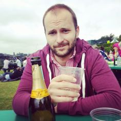 Hubby and Prosecco at #Wimbledon