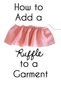 How to Add a Ruffle to a Garment - DIY Sewing Tutorial by Melly Sews