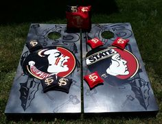 FSU Seminole vs Lady Seminole Cornhole Boards