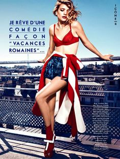Natalia Vodianova Rocks Red, White and Blue for Glamour France July 2013 Cover Story   Fashion Gone Rogue: The Latest in Editorials and Campaigns