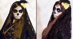 Halloween Schminke für Frauen Gesicht