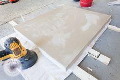 DIY concrete countertops