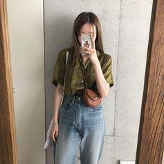 Daily Look, Summer Looks, Simple Style, Denim Skirt, Mom Jeans, Spring Summer, Skirts, Aesthetics, Outfits