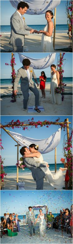 Jewish Wedding Beach Ceremony, Mexico {Julie Saad Photography} - mazelmoments.com