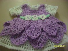 Crochet baby dress (newborn)