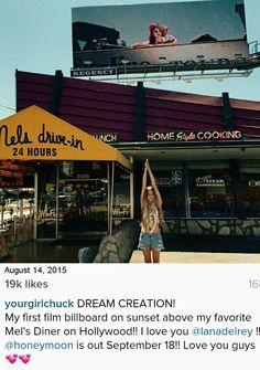 Lana Del Rey's sister, Chuck Grant, on Instagram #LDR #Honeymoon