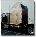 Vortex generators on a truck