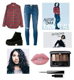"""Alessia Cara  inspired outfit"" by ohnofashionbreakout on Polyvore featuring R13, Frame Denim, Guerlain, Lime Crime and Givenchy"