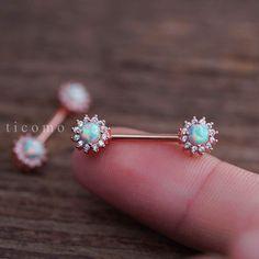 nipple ring nipple piercing nipple jewelry nipple barbell fire opal zircon flower by ticomo on Etsy https://www.etsy.com/listing/515546953/nipple-ring-nipple-piercing-nipple
