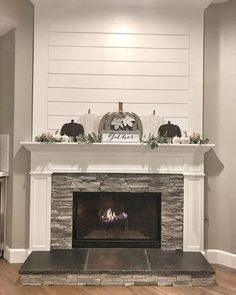 Shiplap Fireplace – Living Room Renovation Part 1 – Farmhouse Fireplace Mantels Farmhouse Fireplace Mantels, Fireplace Redo, Shiplap Fireplace, Living Room With Fireplace, Fireplace Design, Fireplace Ideas, Farmhouse Decor, Fireplace Makeovers, Fireplace Kitchen