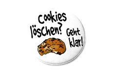 Cookies+löschen?+Geht+klar!+38mm+Button+von+Kirschblueten-Tsunami+auf+DaWanda.com