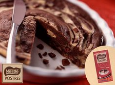 Pastel de chocolate stracciatela (microondas)