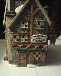 "Dept 56 dickens village ""Kingsford Brew House"" Christmas Farm, Christmas Village Houses, Christmas Village Display, Christmas Villages, Dept 56 Dickens Village, Farm Village, Department 56, Doll Houses, Diorama"