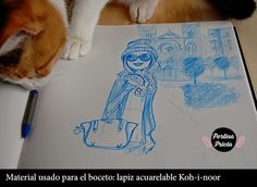 boceto del domingo de Perlina Prieta
