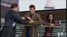 """Martha: Time was, every single one of these people knew your name. Now they've all forgotten you.  The Doctor: good.  Jack: Back to work.  The Doctor: I really don't mind, though. Come with me.  Jack: I've had plenty of time to think that past year—the year that never was—and I kept thinking about that team of mine. Like you said, Doctor: """"responsibility"""".  The Doctor: Defending the Earth. Can't argue with that.  Jack: Hey, I need that!  The Doctor: I can't have you walking around with a…"""